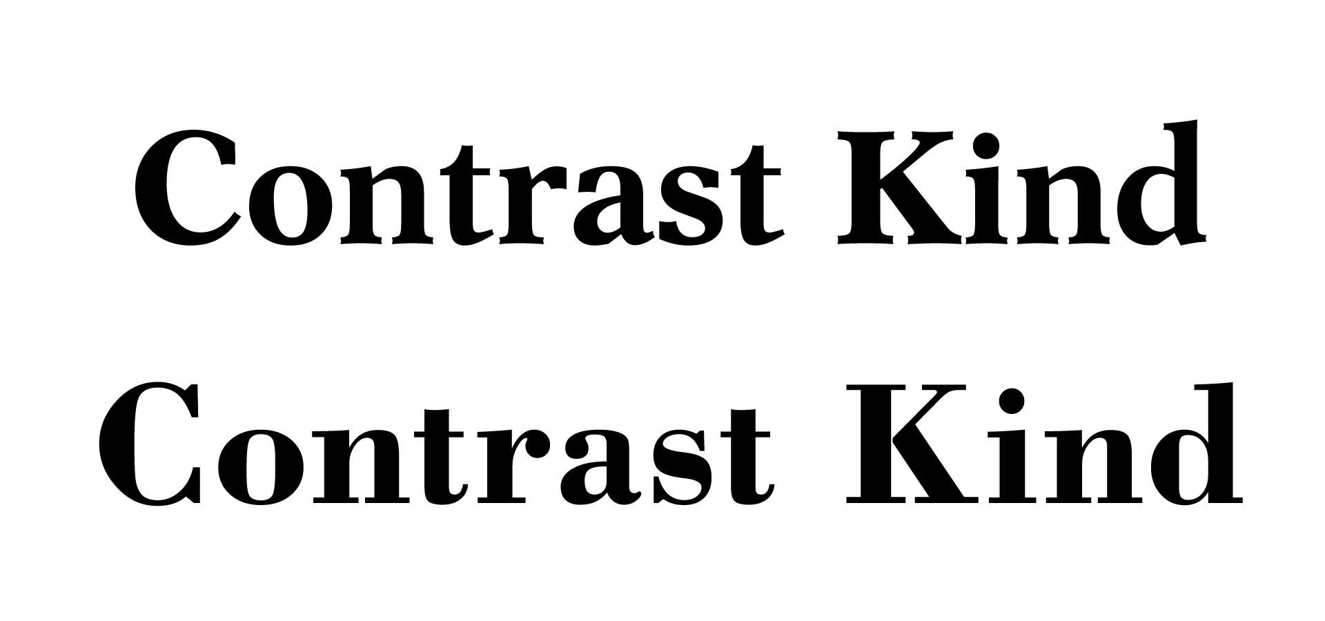 Contrast kind