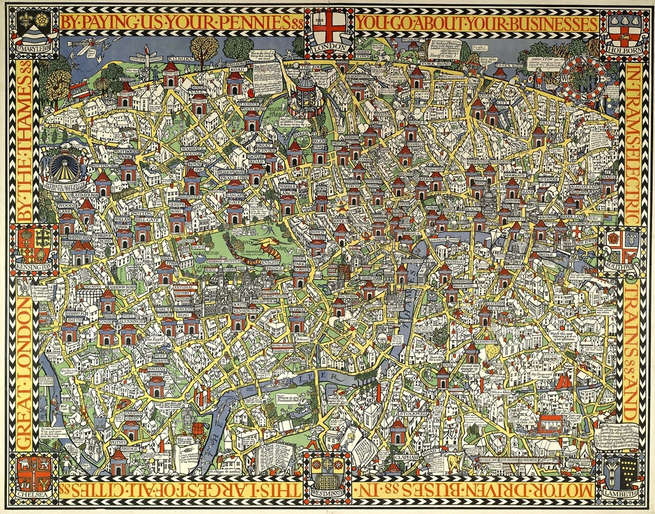 Max Gill Wonderground Map of London Town