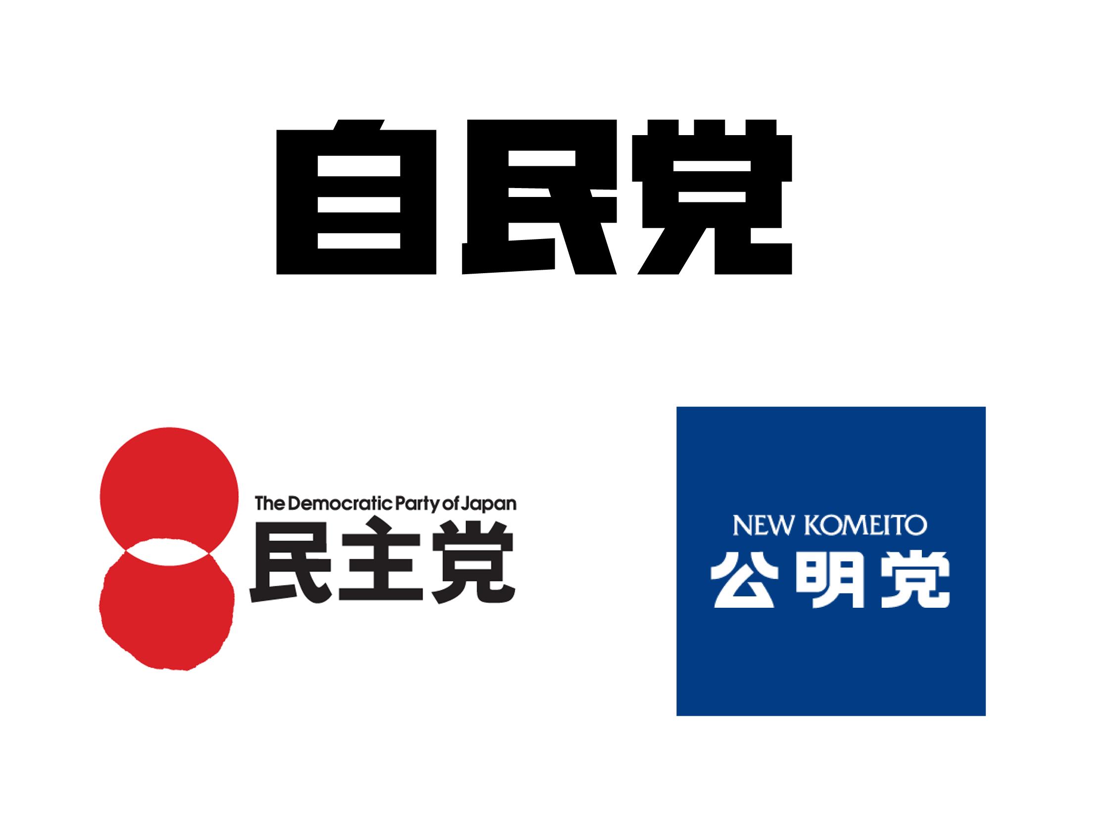 最近乐于观察日本政党名字的字体设计.