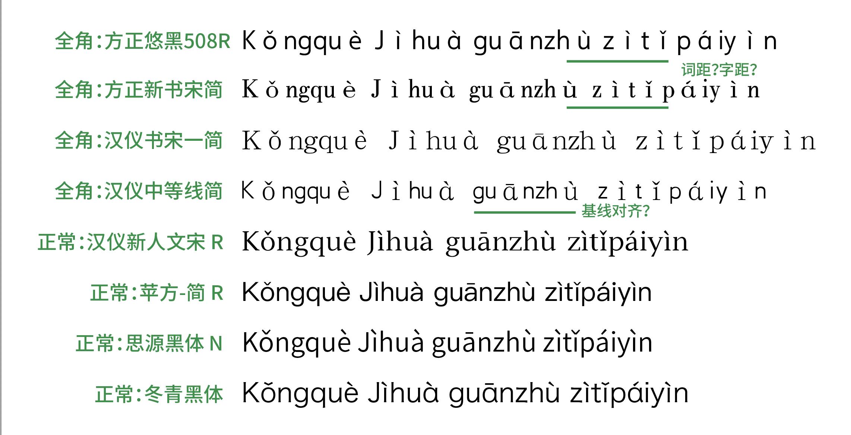 fullwidth pinyin